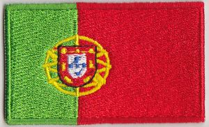 Portugal Embroidered Flag Patch, style 04.